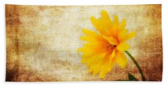 Bright And Yellow Beach Towel