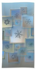Beach Sheet featuring the photograph Snowflake Collage - Bright Crystals 2012-2014 by Alexey Kljatov
