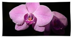 Bright Orchid Beach Towel
