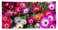 Beach Towel featuring the photograph Brilliant Flowers by Chalet Roome-Rigdon