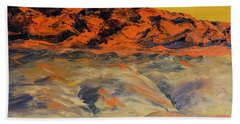 Brilliant Montana Mountains And Foothills Beach Towel