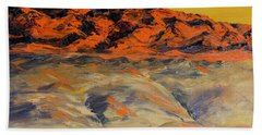Brilliant Montana Mountains And Foothills Beach Sheet