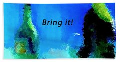 Beach Towel featuring the painting Bring It by Lisa Kaiser