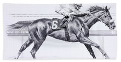 Bring On The Race Zenyatta Beach Towel
