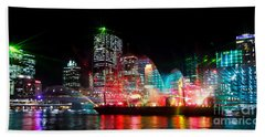 Brisbane City Of Lights Beach Towel
