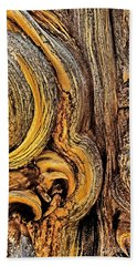 Beach Towel featuring the photograph Bristlecone Pine Bark Detail White Mountains Ca by Dave Welling