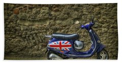 British At Heart Beach Towel
