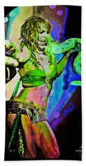 Britney Neon Dancer Beach Towel