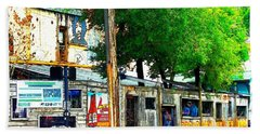 Broadway Oyster Bar With A Boost Beach Towel by Kelly Awad