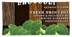 Broccoli Farm Beach Towel