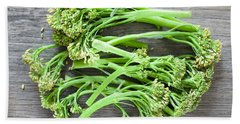 Broccoli Stems Beach Towel by Tom Gowanlock