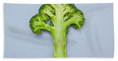 Broccoli Beach Towel by Tom Gowanlock