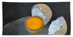 Broken Egg Beach Towel