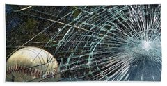 Beach Towel featuring the photograph Broken Window by Robyn King