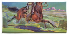Bronco Oranges Beach Towel
