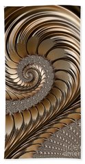 Bronze Scrolls Abstract Beach Towel