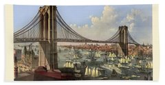 Brooklyn Bridge Beach Towel by Gary Grayson