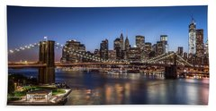 Beach Sheet featuring the photograph Brooklyn Bridge by Mihai Andritoiu