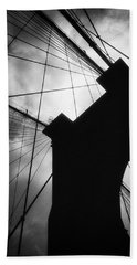 Brooklyn Bridge Silhouette Beach Towel