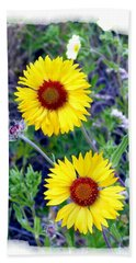 Brown- Eyed Susans Beach Towel by Will Borden