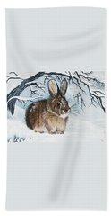 Brrrr Bunny Beach Sheet