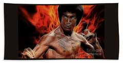 Bruce Lee Beach Sheet by Doc Braham