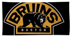 Beach Towel featuring the photograph Bruins In Boston by Caroline Stella