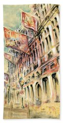 Brussels Grand Place - Watercolor Beach Towel