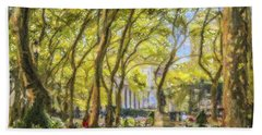 Bryant Park October Morning Beach Towel