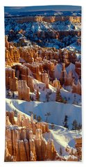 Bryce Canyon In Winter Beach Towel