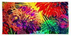 Beach Towel featuring the photograph Bubbles by Geraldine DeBoer