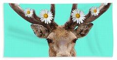Buck Deer Art - Dont Shoot Beach Towel