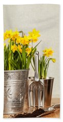 Buckets Of Daffodils Beach Towel
