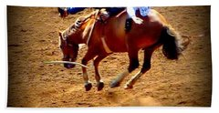 Bucking Broncos Rodeo Time Beach Sheet