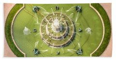 Buckingham Fountain From Above Beach Towel by Adam Romanowicz