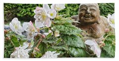 Budda And Begonias Beach Sheet by Denise Romano
