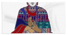 Buddha In Meditation Buddhism Master Teacher Spiritual Guru By Navinjoshi At Fineartamerica.com Beach Towel by Navin Joshi