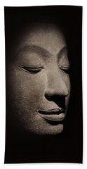 Buddha Head From The Early Ayutthaya Period Beach Towel
