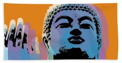 Buddha Pop Art - Warhol Style Beach Sheet