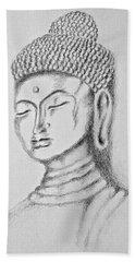 Buddha Study Beach Sheet by Victoria Lakes