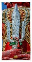 Buddha Trident Sword Beach Towel