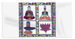 Buddha Yoga Chakra Lotus Shivalinga Meditation Navin Joshi Rights Managed Images Graphic Design Is A Beach Sheet by Navin Joshi