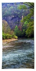 Buffalo River Downstream Beach Towel by Marty Koch
