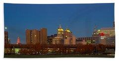 Buffalo, Skyline At Dusk, New York Beach Towel