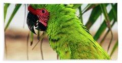 Buffons Macaw, Portrait Profile Beach Towel