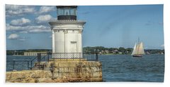 Beach Towel featuring the photograph Bug Light by Jane Luxton