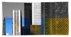 Building Blocks Cityscape Beach Towel