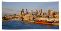 Buildings At The Waterfront, Montreal Beach Towel