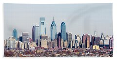 Buildings In A City, Comcast Center Beach Towel by Panoramic Images