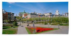 Buildings In A City, Place Jacques Beach Towel